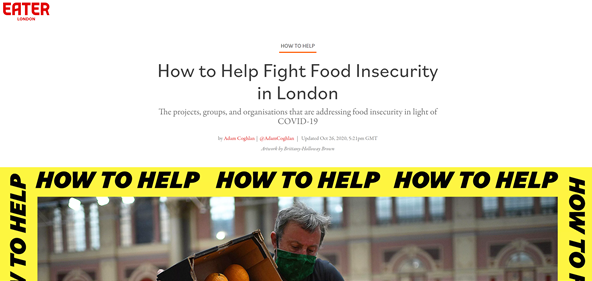 how to help fight food insecurity in london